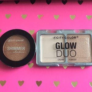 City color eyeshadow and highlighter bundle